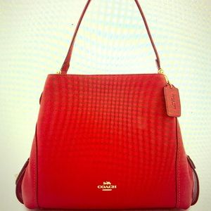 COACH RED EDIE Shoulder Bag! BRAND NEW!